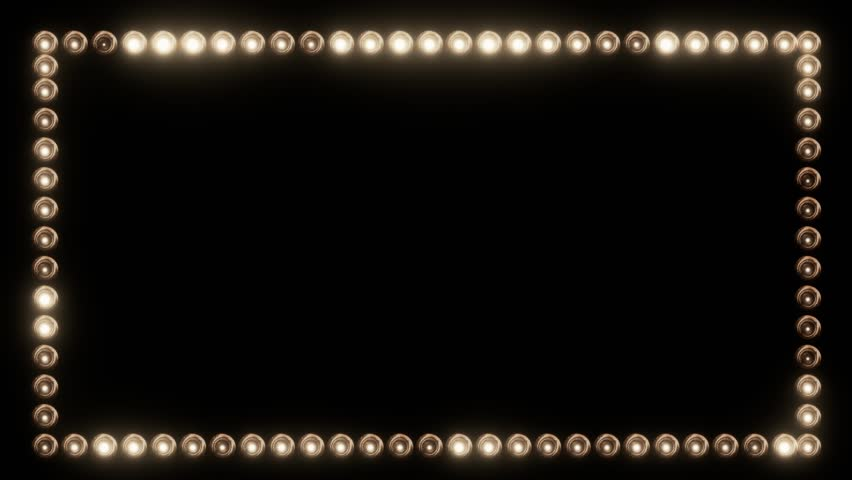 Frame of Light Bulbs for a Film Border | Shutterstock Video #19262533