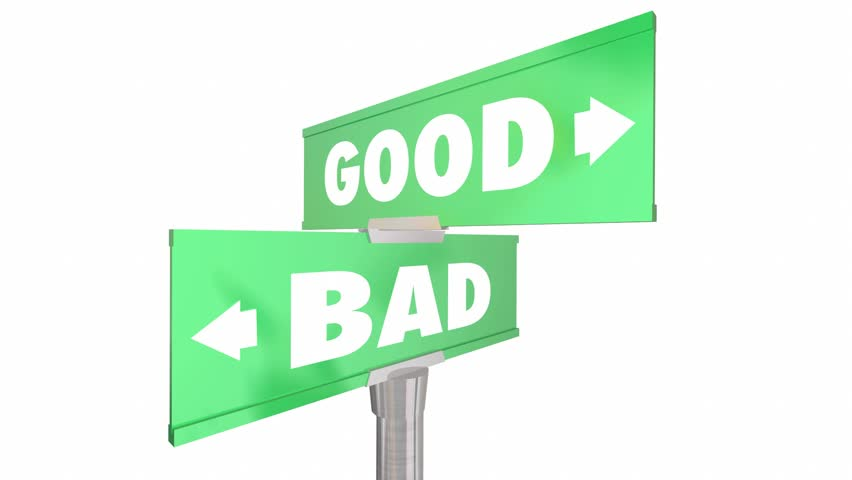 the road good vs evil Photo about road sign of good vs evil on stormy background illustration of opposite, green, decision - 28813252.