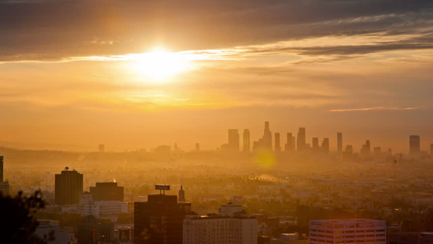 Sunrise over Los Angeles.  Timelapse. | Shutterstock HD Video #1945174