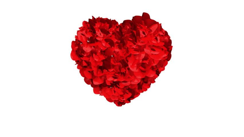 Heart of Rose Petals exploding | Shutterstock HD Video #1957084
