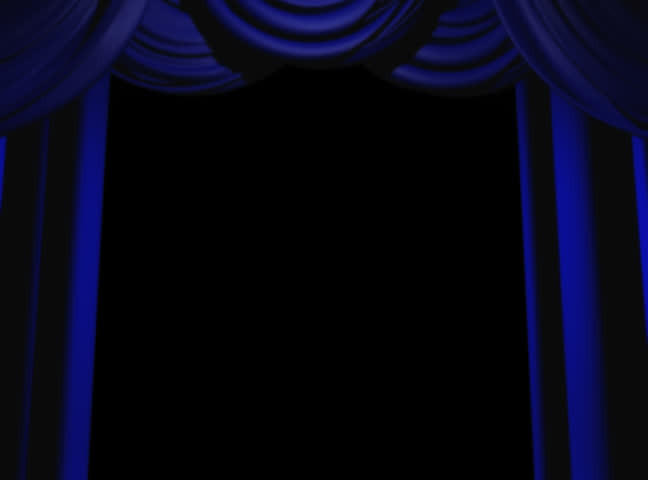 Curtains Ideas blue stage curtains : Blue Stage Curtain On Black Background. 3D Render Animation. Stock ...