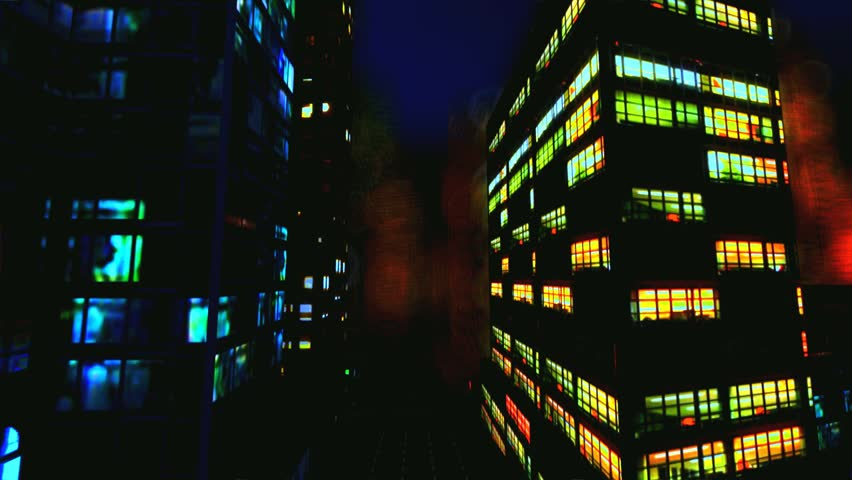 Business District at Night | Shutterstock HD Video #1968868