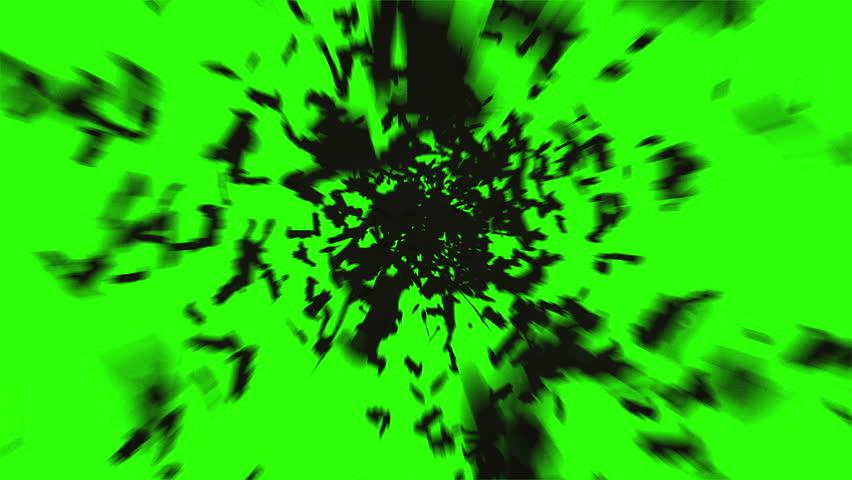 flock of bats. flock of birds. mystical halloween concept. green screen footage   Shutterstock Video #19700338