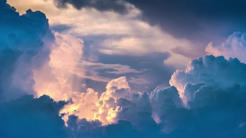 Epic storm tropical clouds at sunset. 4K UHD Timelapse. | Shutterstock HD Video #19914676