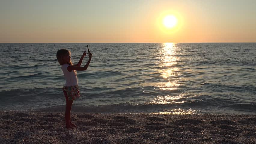 Nude Woman Beach Sundown In Slow Motion - Slightly Soft Stock Footage Video 283198 -6834