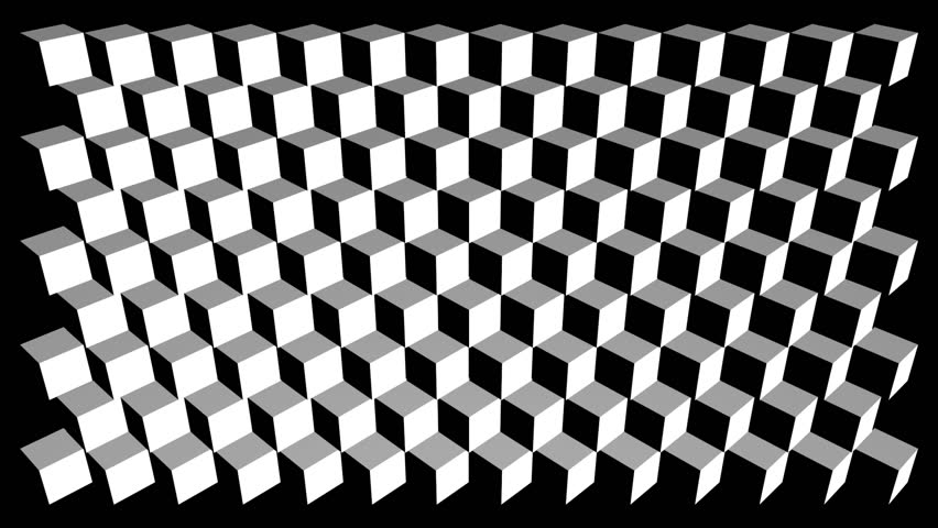 Checkered Curtains Opening,Alpha Channel Included Stock Footage ...