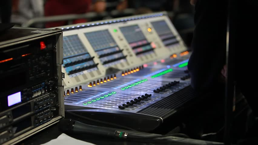 Remote Concert Sound Engineer Stock Footage Video 20496598 ...