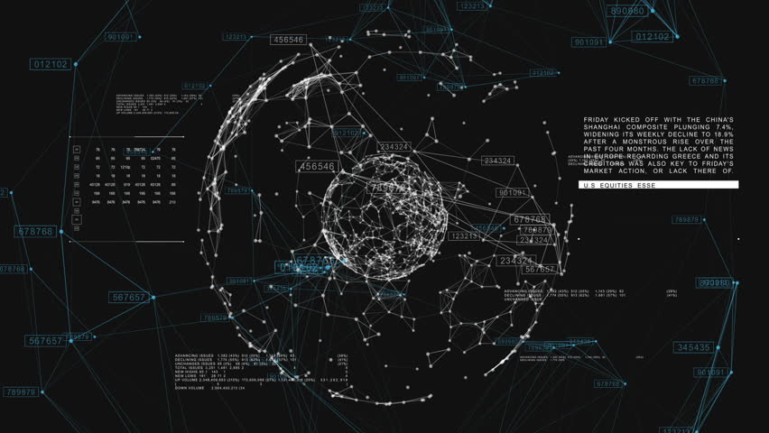 3d seamless animation of Global Business Network rotating in Space. Scientific Concept. Looped. HD 1080. | Shutterstock Video #20505250