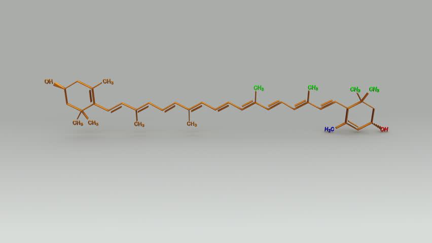 Xanthophyll Structure   Shutterstock HD Video #20549026