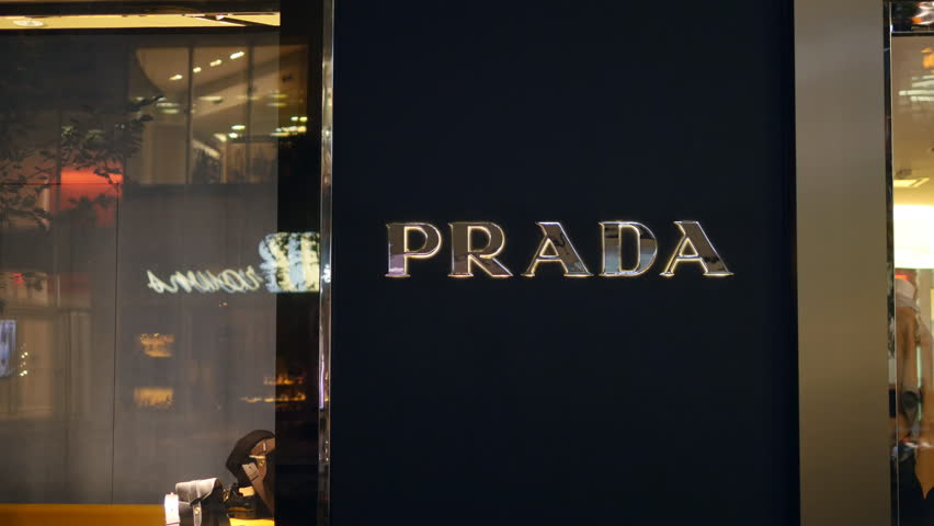 TORONTO, CANADA on Oct 5th: Prada store logo and store window in Toronto, Canada on Oct 5th, 2016. Prada is an Italian, luxury apparel and accessories supplier, founded in 1913 by Mario Prada.  | Shutterstock HD Video #20575963