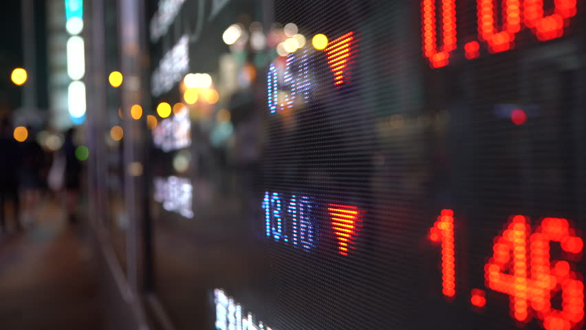 Display stock market numbers in a street   Shutterstock HD Video #20639251