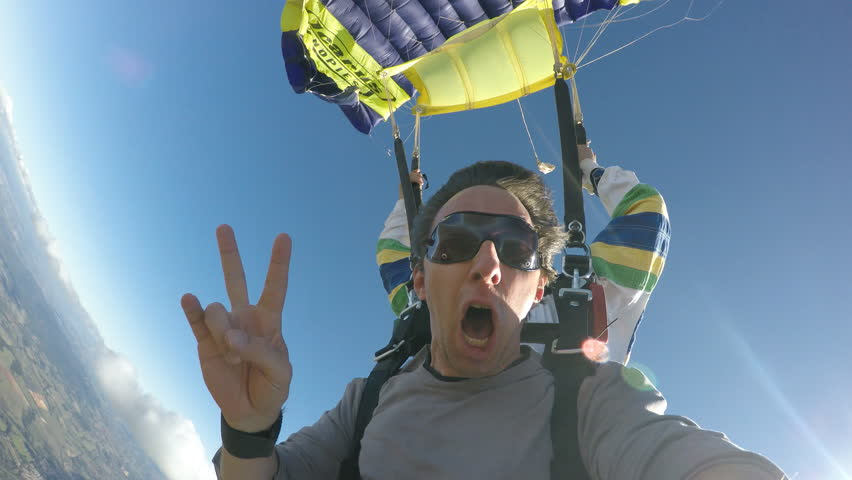 Skydive tandem opening   Shutterstock Video #20757856