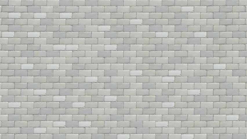 breaking white brick wall