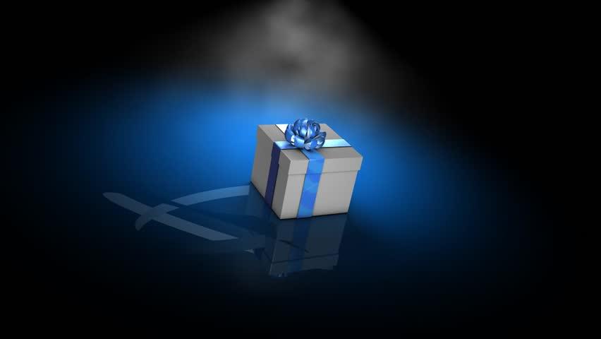 Empty box, concept 3d animation.