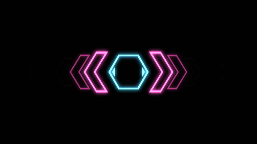 Futuristic screensaver with hex corner. HUD Heads Up Display Scanner high tech target digital read out. Abstract digital background with geometric particles. Seamless loop | Shutterstock HD Video #20826778