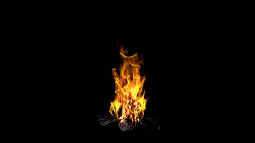 Bonfire - Loop -  Alpha Channel