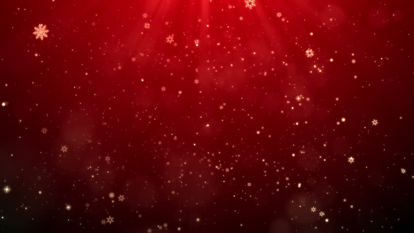 Red Christmas Snowflakes Falling Shiny Background Looped, For your Celebration or greetings video. | Shutterstock HD Video #20950135