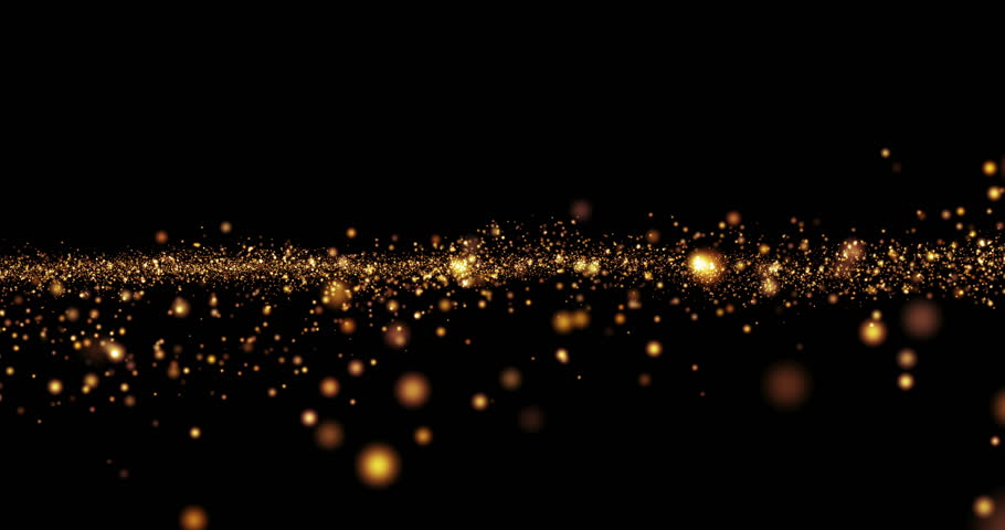 christmas golden light shine particles bokeh loopable on black background, holiday concept | Shutterstock Video #20968102