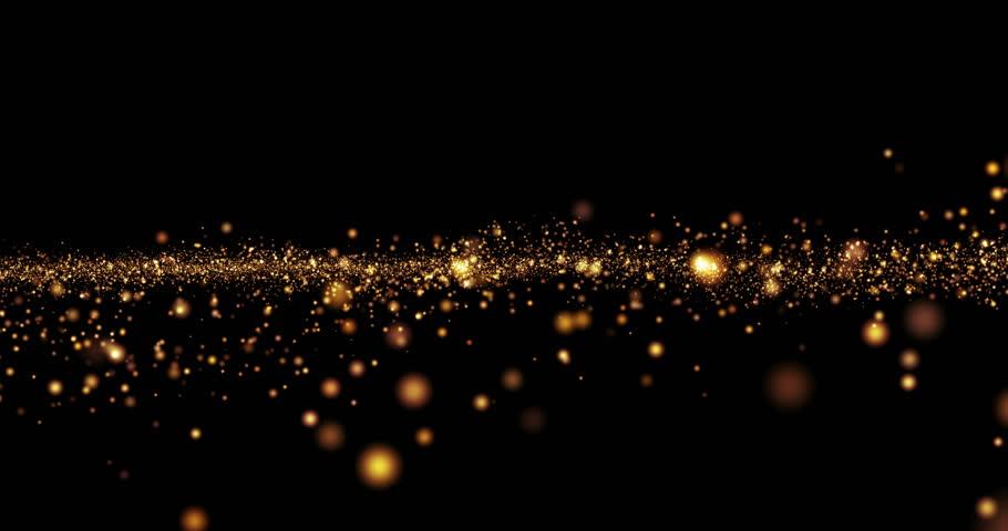 christmas golden light shine particles bokeh...