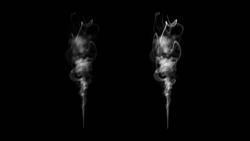 High-detailed smoke (High definition). smoke slowly floating through space against black background. Smoke on black. Smoke isolated