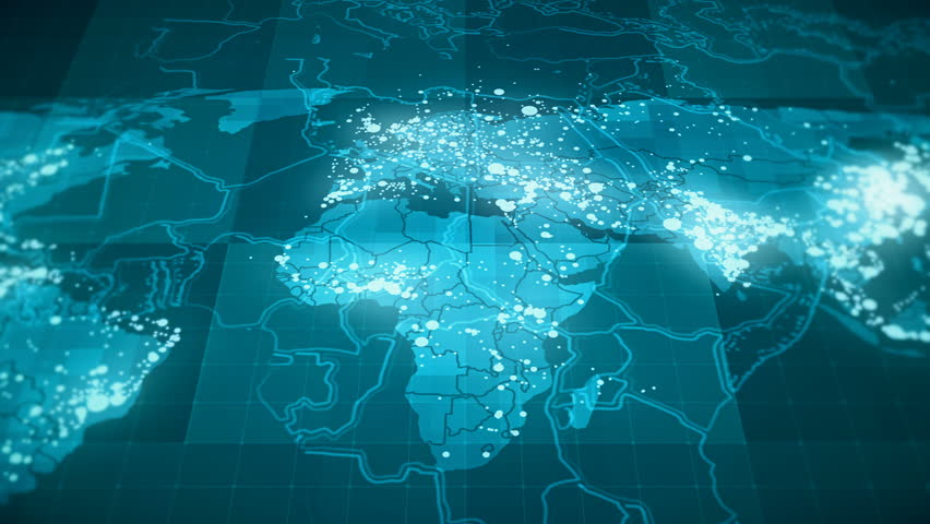 Globalization world map animation blue this animated world map globalization world map animation blue this animated world map with connections between important centers of the countries perfect for hi tech promotion gumiabroncs Gallery