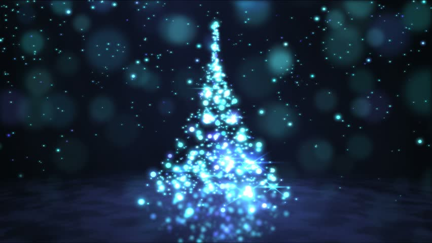 Sparkling Rotating Christmas Tree Animation - Loop Blue | Shutterstock HD Video #21049951