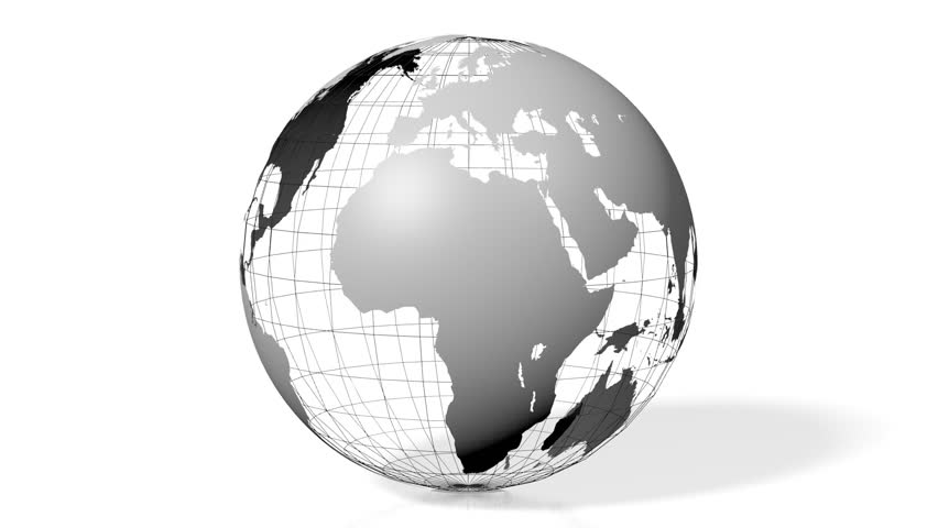3D animation/ 3D rendering - Earth with all continents (Europe, Asia, Africa, South America, North America, Australia).