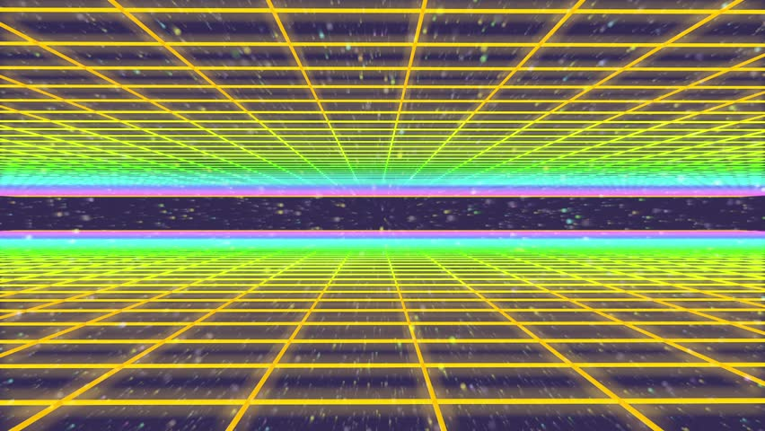 3D Animation - 80s retro background mesh