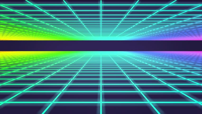 3D Animation - Retro background mesh loop