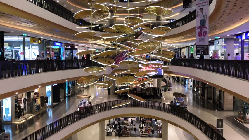 CHIANG MAI, THAILAND -NOVEMBER 9 2016:  Inside of Central Festival Chiangmai. New Business Plaza of Chiangmai. About 3 Km. from Chiangmai City, Thailand. | Shutterstock HD Video #21187480