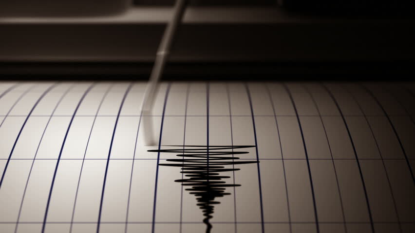 Seismograph and Paper - 3D Rendering