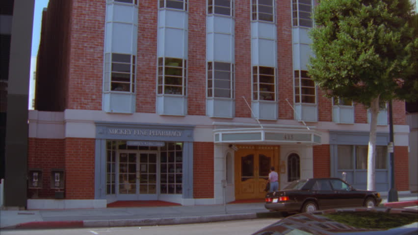 Day Push Up Raked Left Brick 4 Story Office Building White Trim Pharmacy  Bottom, Can Part 98