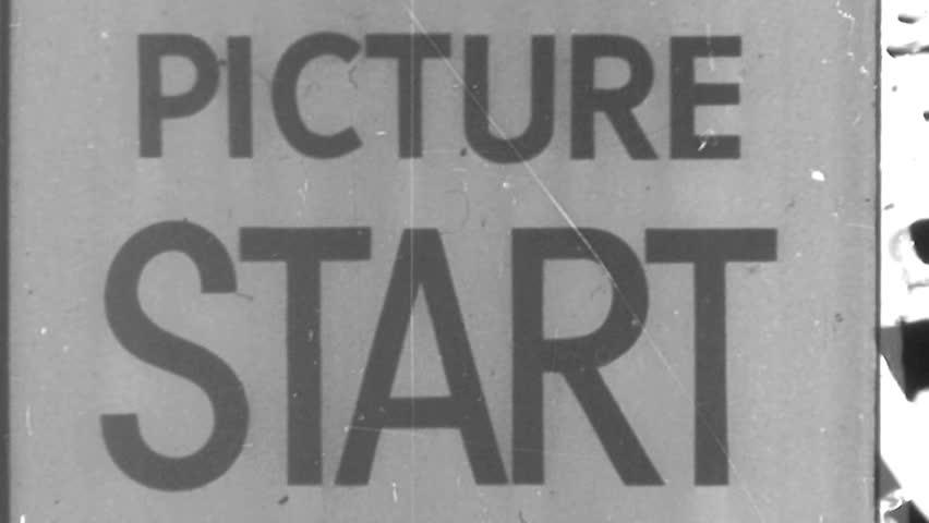 Vintage Damaged Film Leader Texture Loop