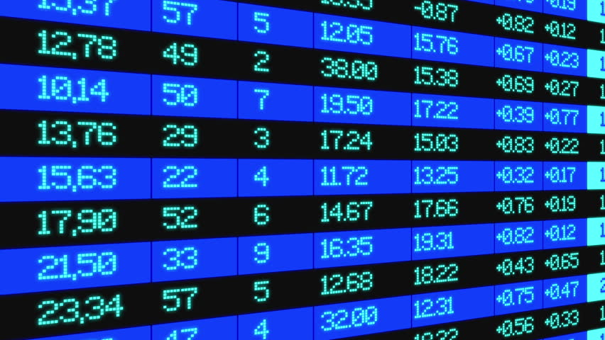 Stock Market board, animation to the right, data highlighted and animated   Shutterstock HD Video #21460813