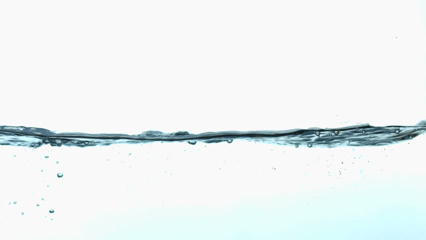 slow motion side view of water wave