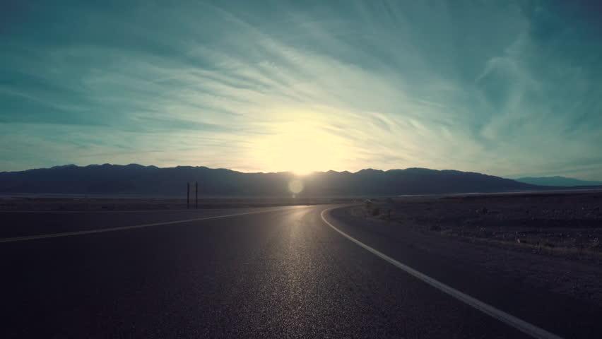 Driving Down Desert Road In Death Valley, CA | Shutterstock HD Video #21610621