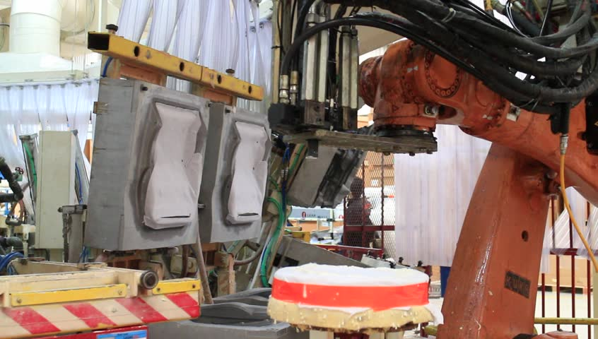 Rayong Thailand , November 09 - 2016 : Robot Working In Automation ...