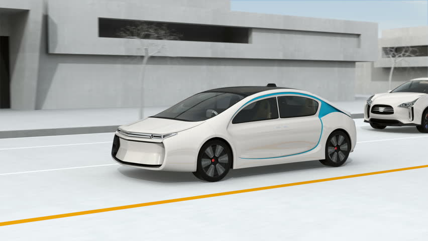 Connected cars and autonomous cars concept. 3D rendering animation. | Shutterstock HD Video #21632608