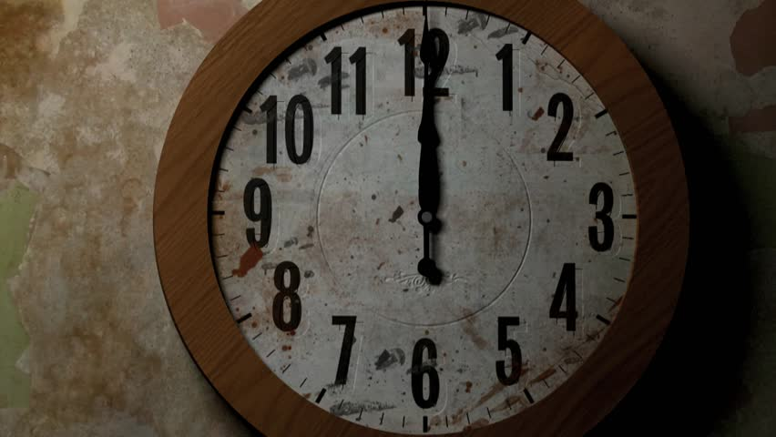clock hands moving fast