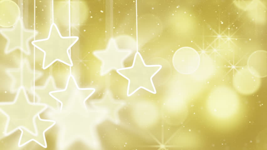 Silver and golden background of defocused abstract lights bokeh - Elegant Christmas Background With Stars Series For 2014