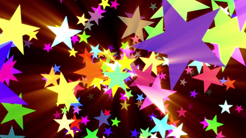 Multicolored Disco Stars Warm Rays VJ Motion Background Loop Roll Right Bright and colorful. Easy to colorize, flip, alter speed or otherwise modify. | Shutterstock HD Video #22338928