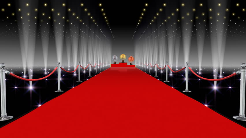 Unrolling Red Carpet Animation And Paparazzi Camera