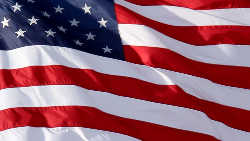 American Flag Slow Waving. Close up of American flag waving. Filmed at 60 fps and slowed down to 30 fps. | Shutterstock HD Video #2248675