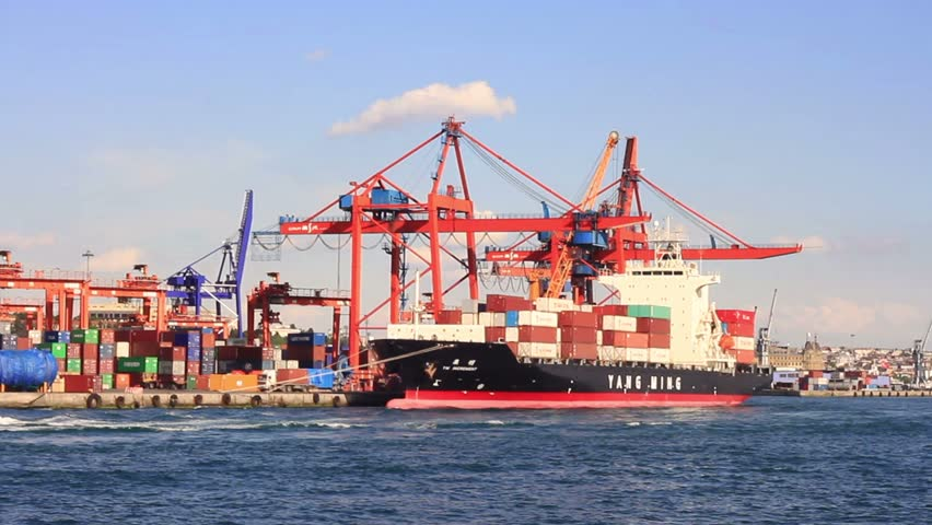 ISTANBUL - JUNE 27: Container ship YM INCREMENT (IMO:9319143, Liberia) full of