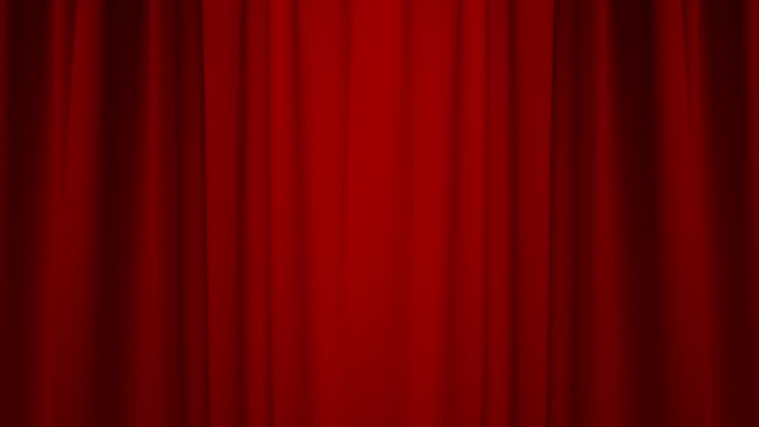 Red Curtain with Alpha Channel/Opening / closing red curtain