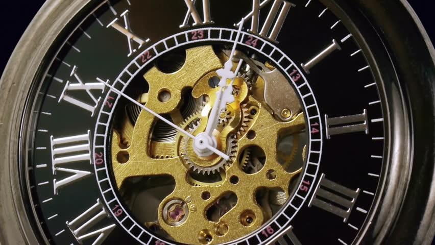 industrial video background fantasy golden clockwork with