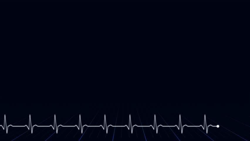 Abstract Background Animation - Heartbeat EKG