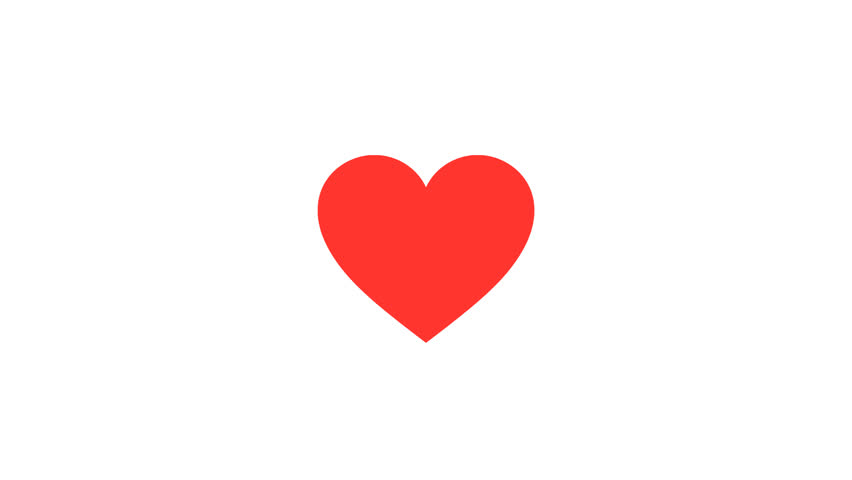 Beating Red Graphic Heart Icon. HD animation loop, can be used for Valentines or Mothers Day