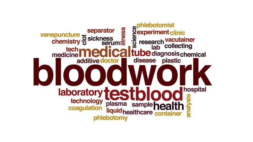 Header of bloodwork