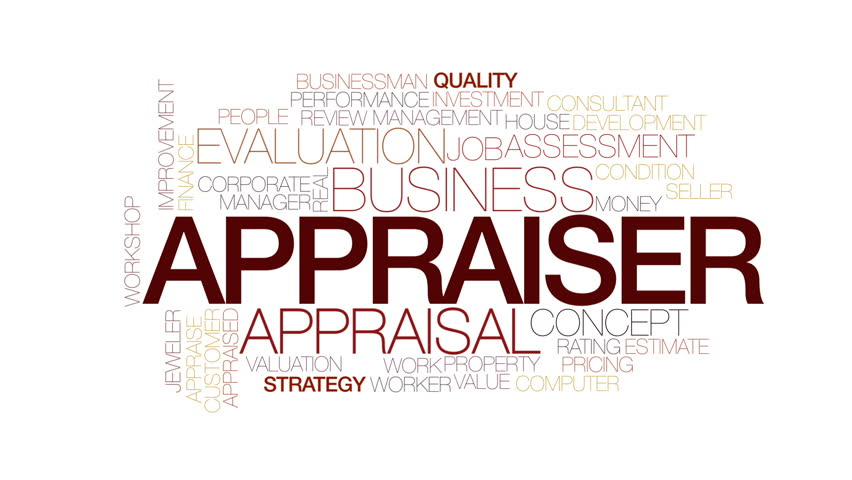 Appraiser animated word cloud. Kinetic typography. | Shutterstock HD Video #23071402